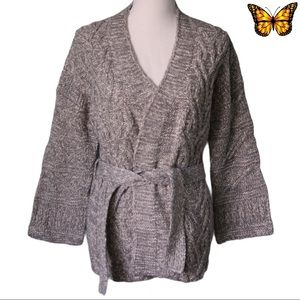 Kismet Bell Sleeve Cable Knit Cardigan Size Extra Small